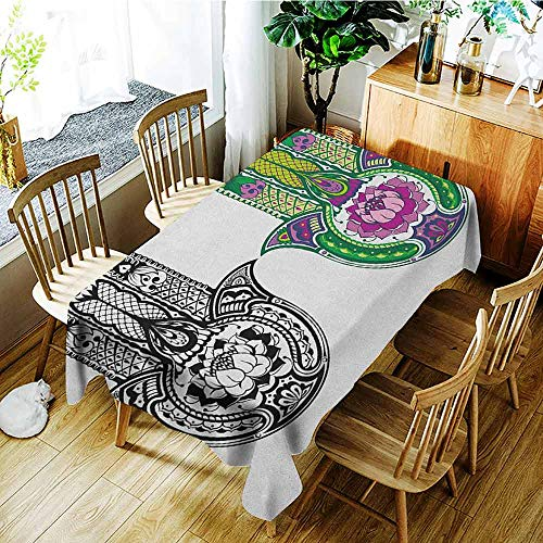 AndyTours Waterproof Table Cover,Hamsa,Fashions Rectangular,W60X90L Multicolor