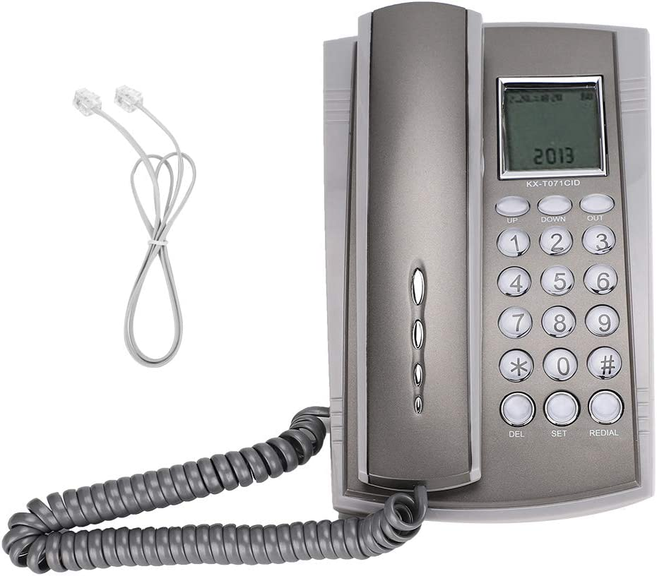 Mugast Corded Telephone,Fixed Wired Desktop/Wall Landline Phone with Caller ID for Home/Office/Hotel