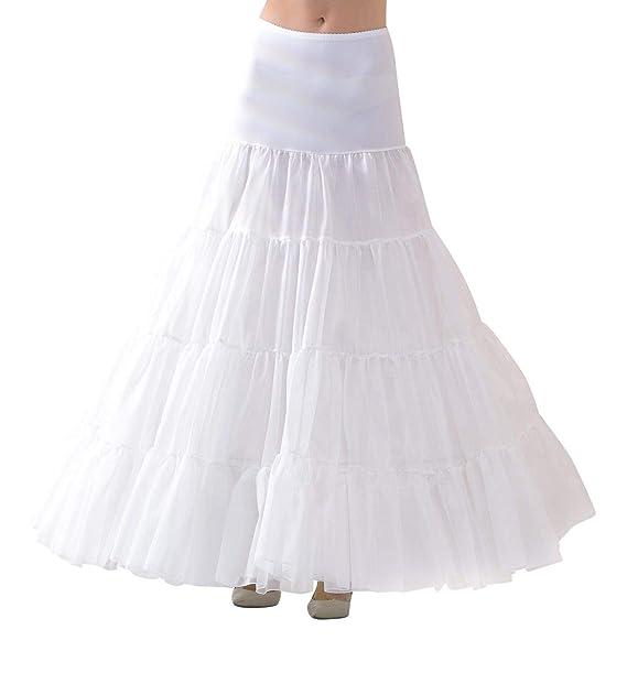 Lacey Bell Mujer Enaguas Larga con Cintura El/ástica para Vestidos de Novia P6-320 Canc/án Circunferencia 320cm