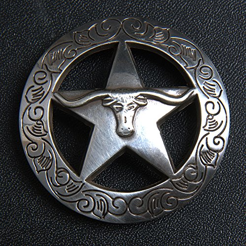 HILASON 1.5 INCH SILVER LONGHORN STAR CONCHO HEADSTALL SADDLE - Cowgirl Concho