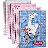 Caderno de 10 Matérias, Jandaia 65420, Multicor, Pacote com 4 Unidades