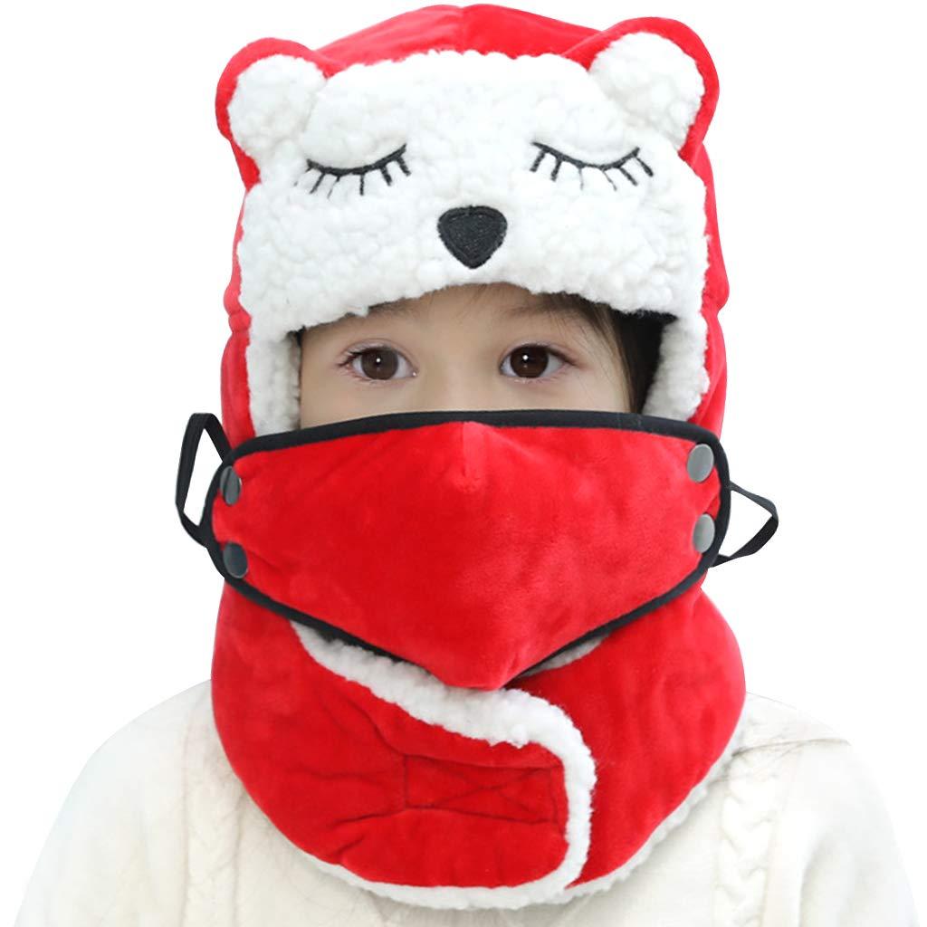 Gar/çon Bonnet de Trappeur Masque Polaire Cagoule Chapka Chapeau Aviateur Chaud Hiver de Russe Chaud Ear Flap Chapeaux Liny Bonnet Ski Enfant Fille