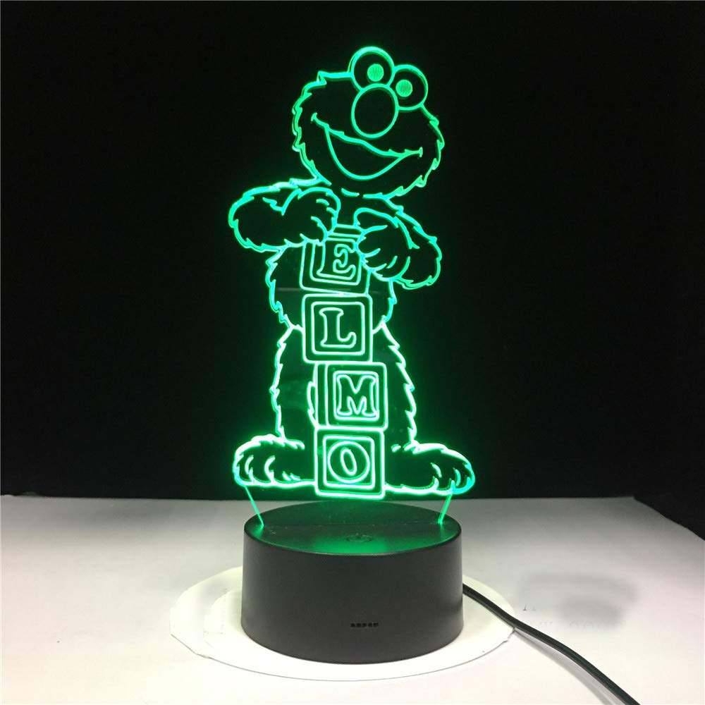 3D Led night light Lamp Cartoon Sesame Street ELMO Figure Home Decoration SDSDEK