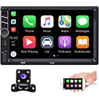 Hikity Autoradio Car Stereo Double Din 7 Inch HD Touch Screen Radio Bluetooth FM with USB/AUX-in/RCA/Rear View Camera…