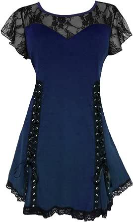 Dare to Wear Victorian Gothic Boho Women's Plus Size Roxanne Corset Top