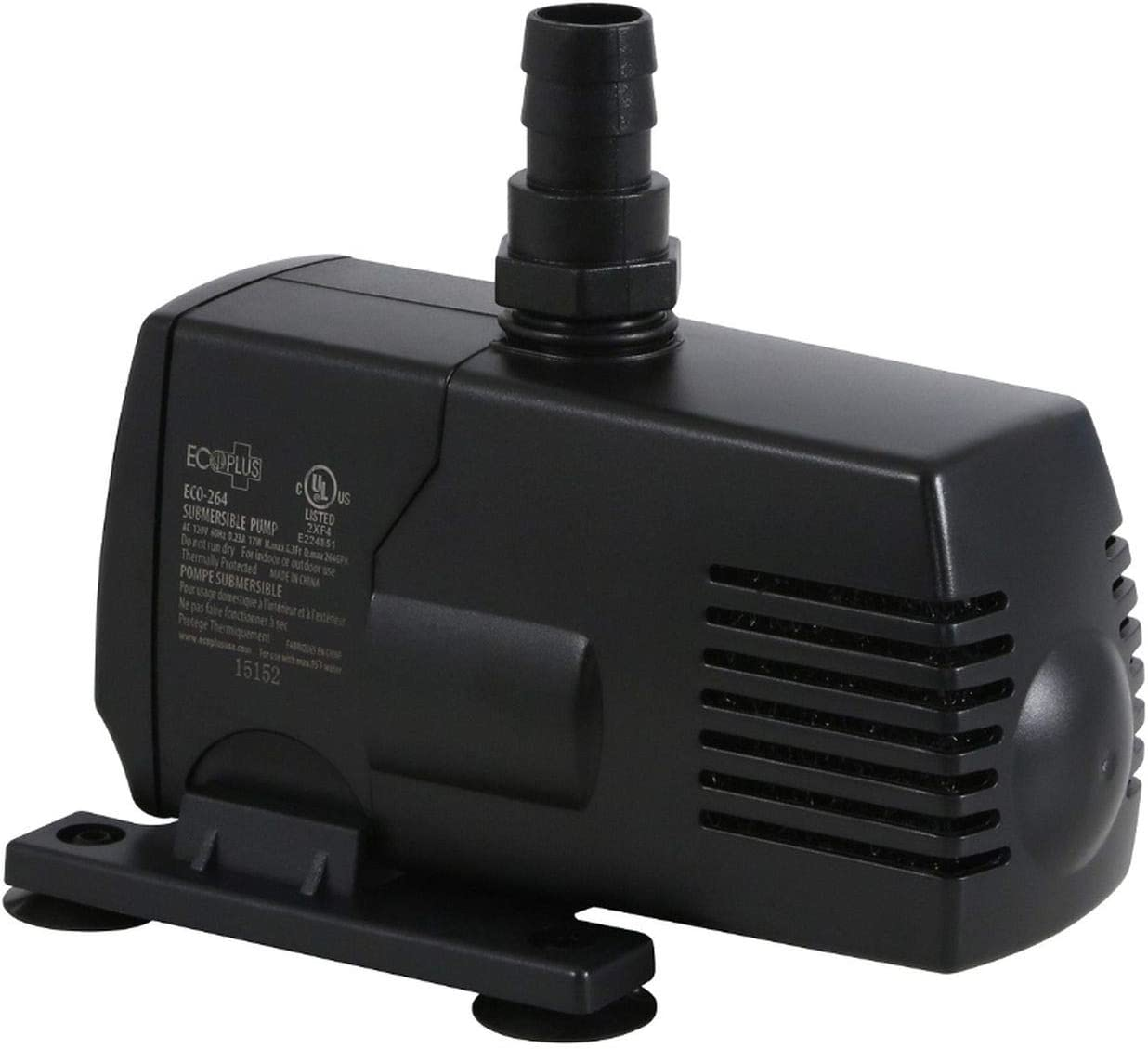 EcoPlus Eco 264 Fixed Flow Submersible/Inline Pump 290 GPH