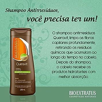 Linha Queravit (Tratamento Instantaneo) Bio Extratus - Shampoo Antirresiduo Limpeza Profunda 250 Ml -