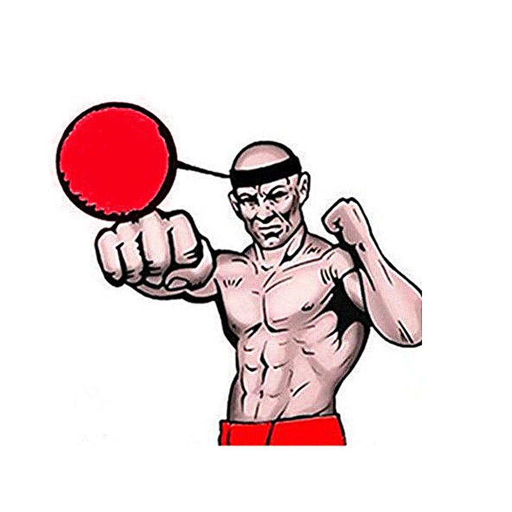 squarex Kampf Ball mit Kopf Band f/ür Reflex Speed Training Boxen Boxing Punch