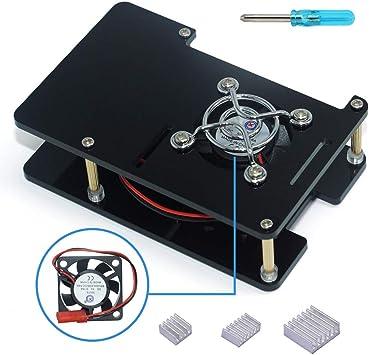 L&H Gadgets Acrilico Caja para Raspberry Pi 4 Kit Model B/B+ con 2 ...