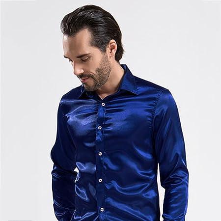 QI FANG BUSINES Camisas de los Hombres del Negocio Delgado ...