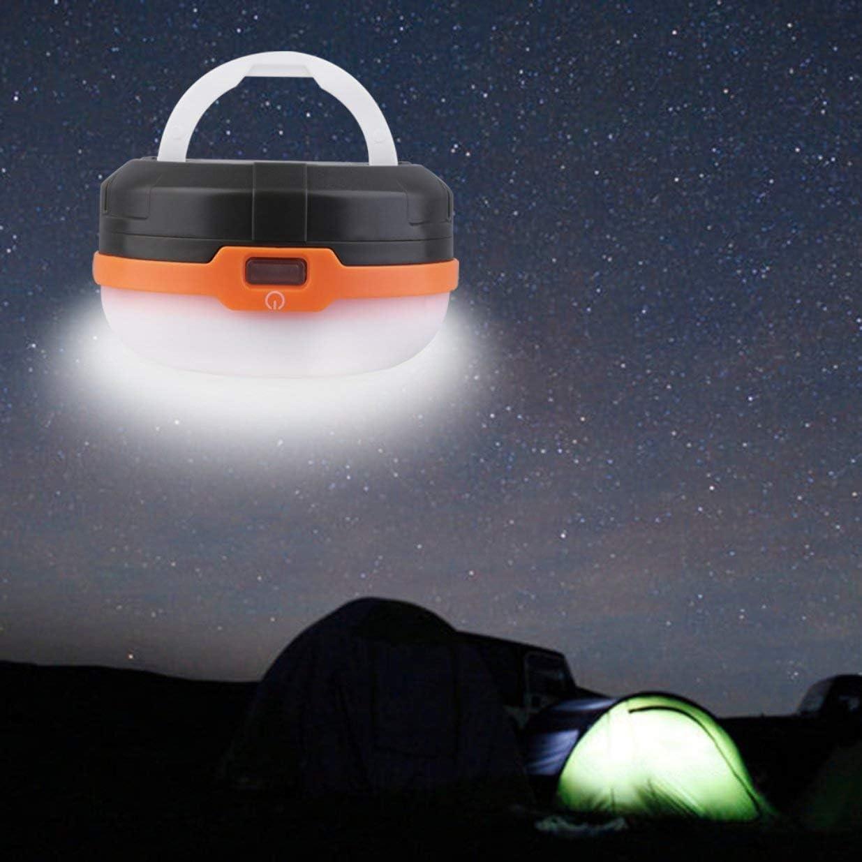 Bianco Timetided 1pc 3LED Lampada Portatile per Lanterna da Tenda da Campeggio Escursionismo Pesca allaperto