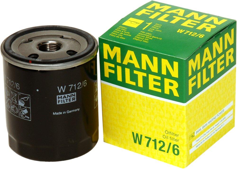 Mann Filter W 712/6 Filtro de Aceite MANN & HUMMEL GMBH