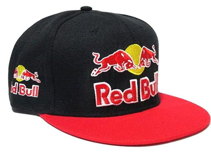 Red Bull gorra/(negro con LEDs rojos)/Street/Extreme Sports/estilo BMX DJ // SK8: Amazon.es: Deportes y aire libre