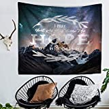 Doremy Wall Hanging Tapestry, Beach Towel Bath Towel with Romantic Pictures Art Nature Home Decorations, Sports, Swim, Pool, Spa and Sauna 59 x 51 inches (TP1081-4)