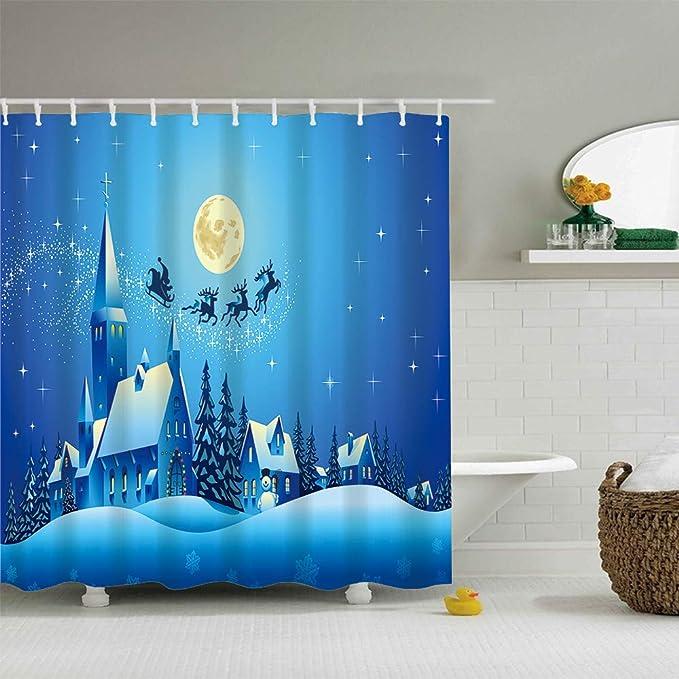 Amazon.com: Juego de cortinas de ducha con impresión digital ...