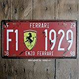 Bidesign Metal Tin Sign 6x12in car Plate enzo Ferrari Dmxplus Bar Pub Cafe Home Decor Retro Poster Vintage Sign 30x15cm