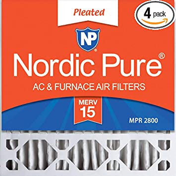 Nordic Pure 16/_1//4x21/_1//2x1 Exact MERV 13 Pleated AC Furnace Air Filters 6 Pack