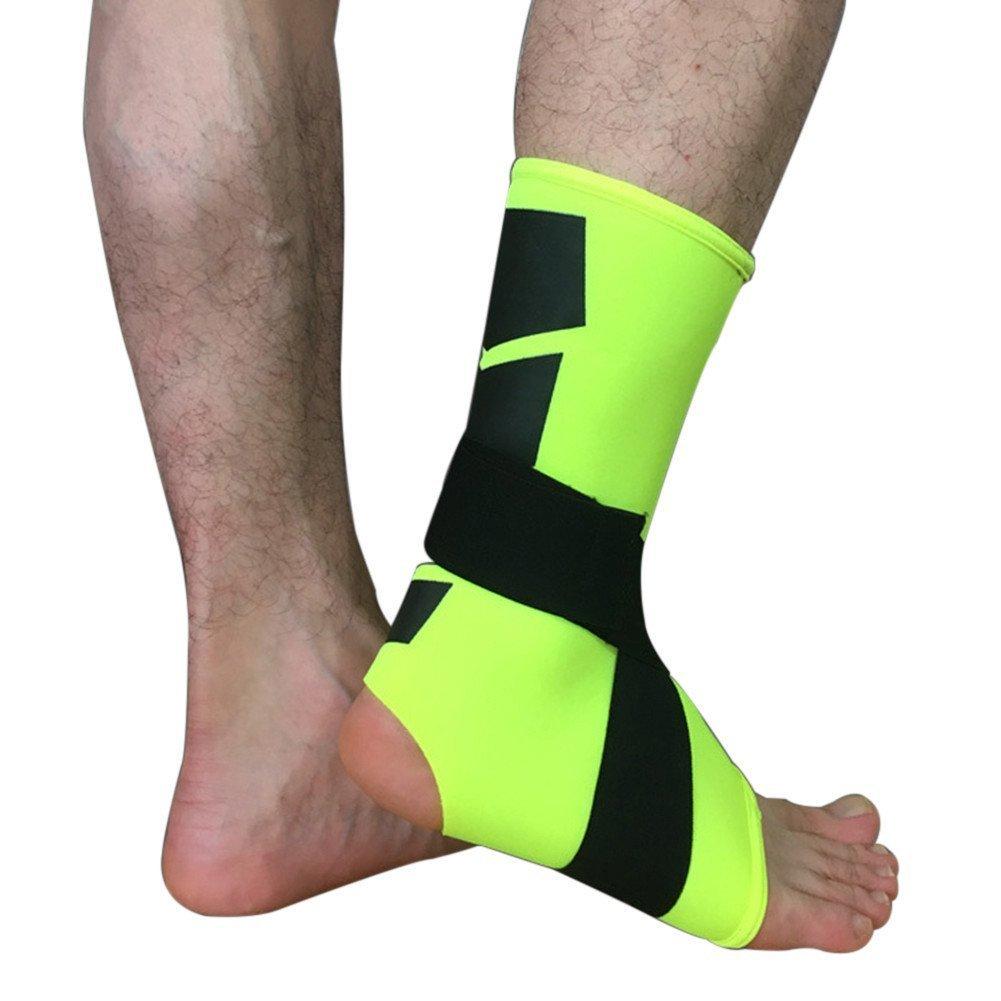 pu ran 1Pc Sports Gym Adjustable Foot Support Anti-slip Ankle Brace Compression Strap Guard Sock