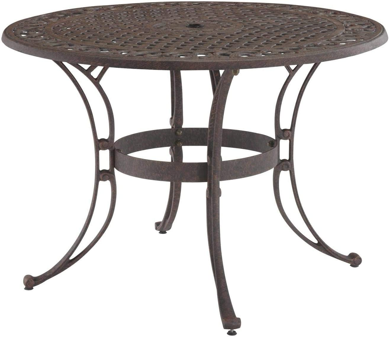 Biscayne Bronze 42-Inch Round Outdoor Dining Table by Home Styles