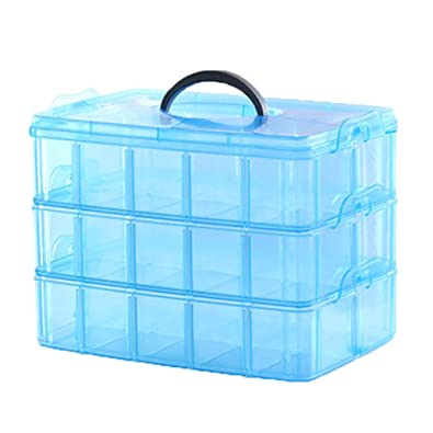 f054d7bb7 Homies International, 3 Layers, 30 Grids, Transparent Plastic Jewellery  Organizer Storage Compartment Box