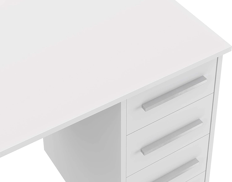 56 x 110 x 73,5 Movian Idro moderner  Schreibtisch mit 3 Schubladen Buche Optik