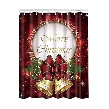 cocohot impresión Digital 3d Navidad Papá Noel baño ducha cortinas: Amazon.es: Hogar