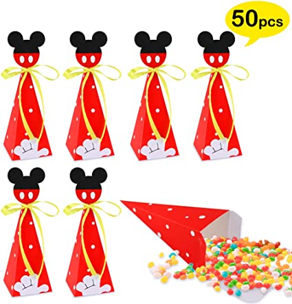 20 Minnie Mickey Mouse Bolsas De Papel Para Dulces Cumpleaños Fiestas De Niñas