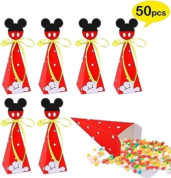 Amazon.com: 50 cajas de dulces de Mickey Mouse, bolsas de ...