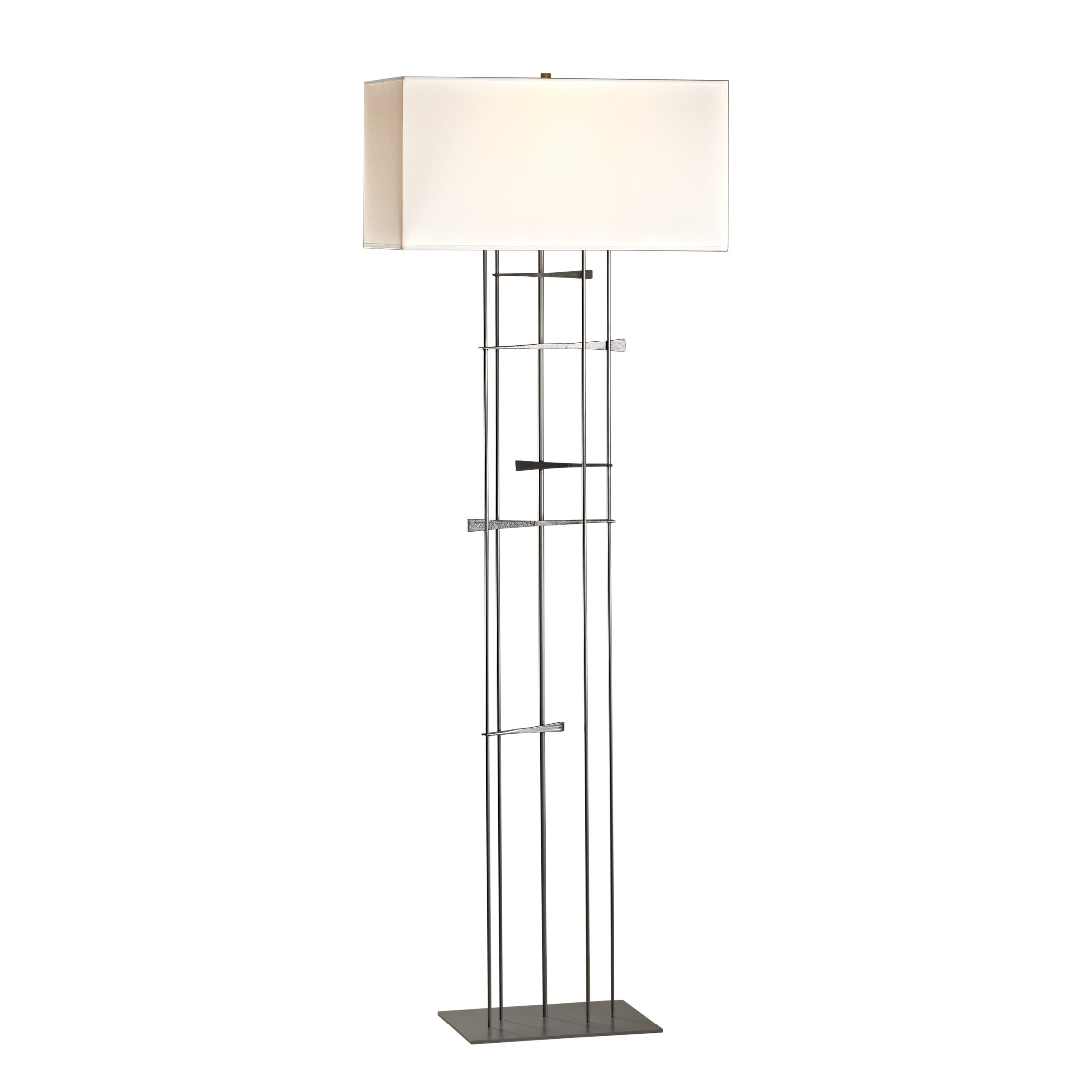Hubbardton Forge 237670-1034 Cavaletti Floor Lamp Natural Anna, Vintage Platinum Finish by Hubbardton Forge (Image #1)