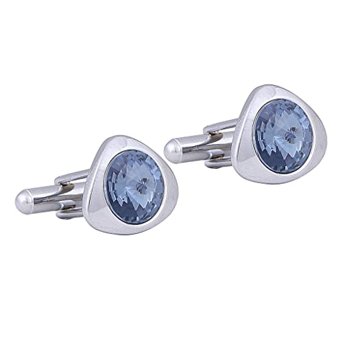 3edf09dc6415 Buy TRIPIN SILVER CUFFLINKS WITH SWAROVSKI ELEMENTS FOR MEN IN A GIFT BOX  Online at Low Prices in India