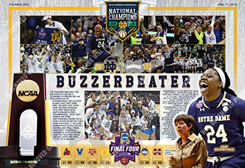 PosterWarehouse2017 NOTRE DAME WINS 2018 NATIONAL TITLE COMMEMORATIVE POSTER