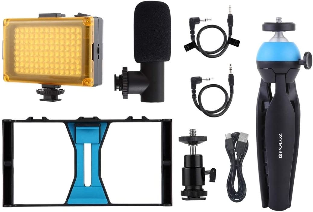 Google Galaxy Xiaomi LG Microphone Kits for iPhone HTC and Other Smartphones KANEED 2 in 1 Live Broadcast Smartphone Video Rig Huawei