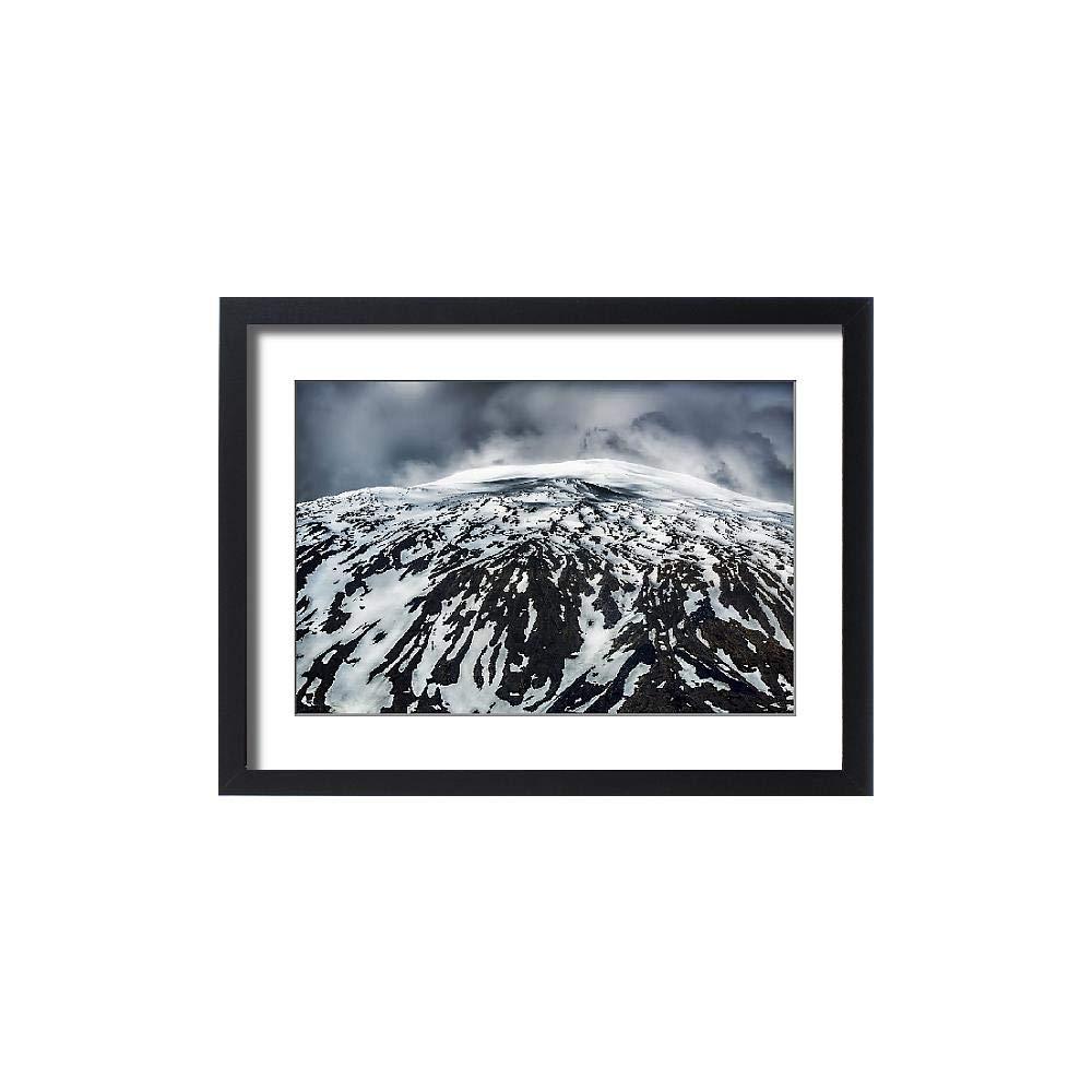 Media Storehouse Framed 24x18 Print of Snaefellsjokull Glacier, Iceland (13293773)