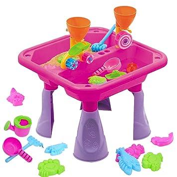 deAO - Mesa de Arena y Agua con Doble Compartimento para niños ...