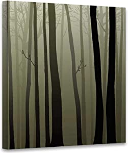 of Woods,Modern Home Decor Stretched and Framed Read to Hang Wall Decor to Hang Wall Decor 12x12 Inches