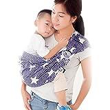 kangaroobaby 新生児 ベビー 抱っこ紐 スリーピングサポート ( 新生児~2歳 ) サイズ調節可能 な抱っこひも (ブルー星)