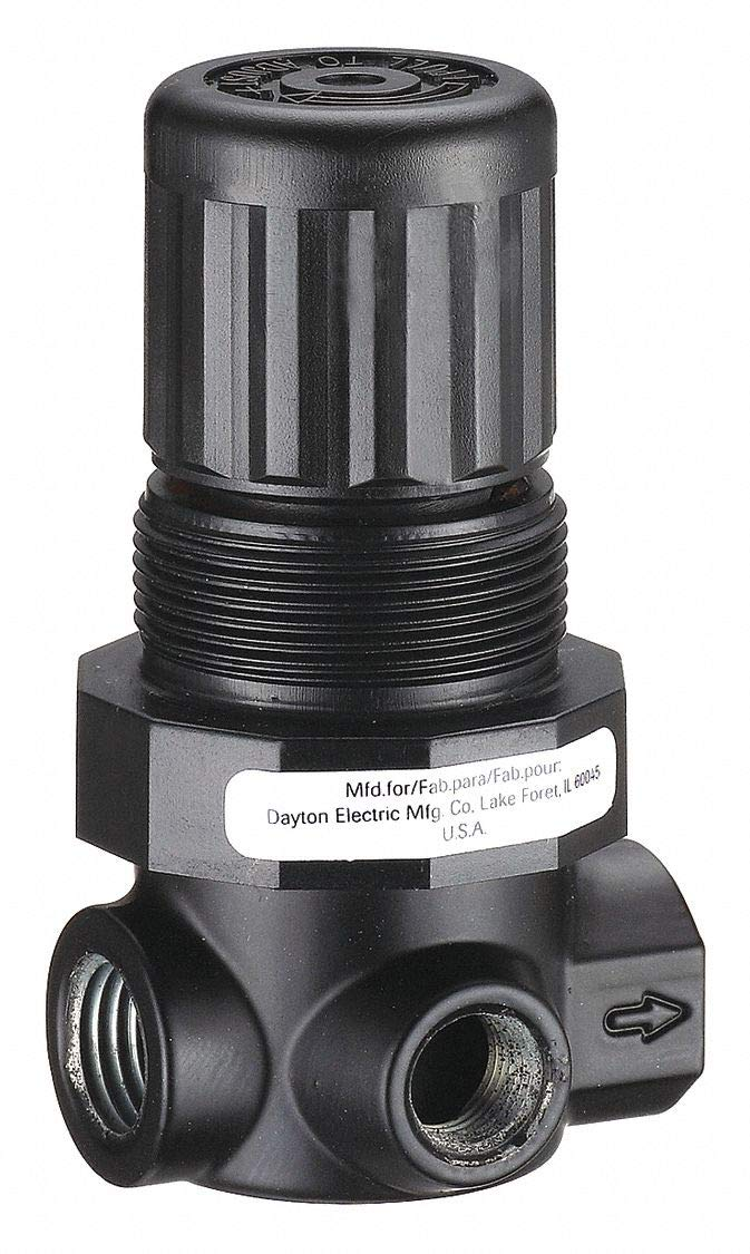 Speedaire 4ZM07 Pneumatic Regulator w/ Gauge 300PSI Inlet 125PSI Outlet 1/8'' NPT by Speedaire