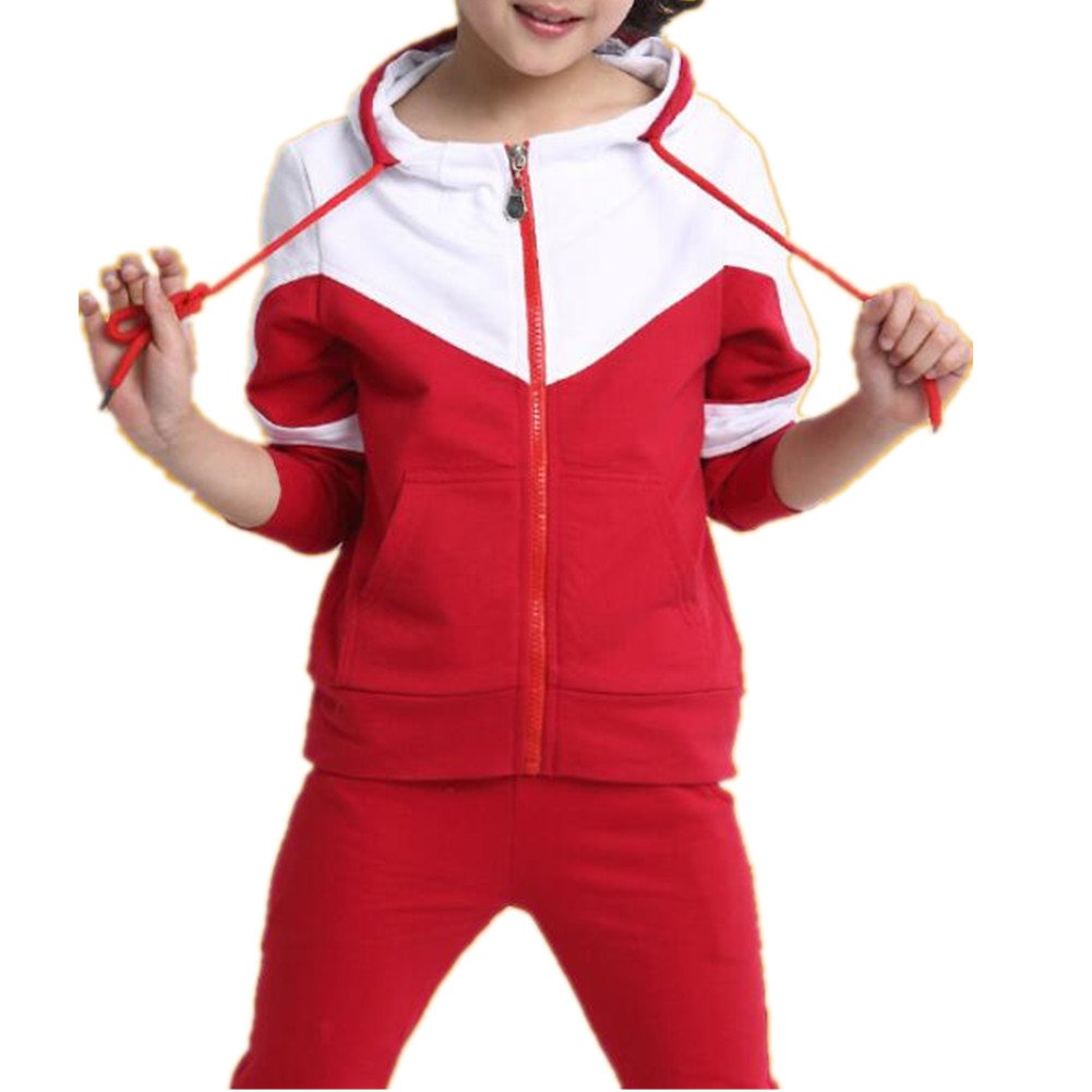 Banner Bonnie Big Girls' Cotton Long Hoodie Tracksuit Set BB14KQE9199