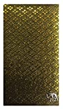 Gold & Black Fabric Waitstaff Organizer Guest Check Presenter, Check Book Holder for Restaurant, Checkbook Cover, Check Pad Holder, Server Book for Waiter with Money Pocket (With Plastic Covers)