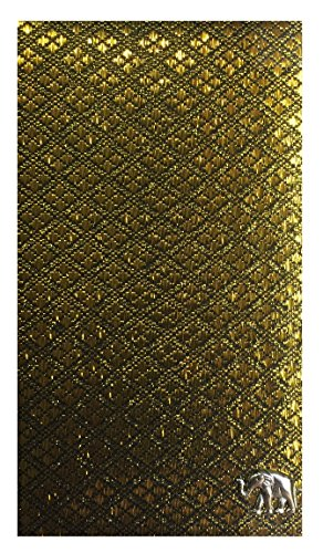 Gold & Black Fabric Waitstaff Organizer Guest Check Presenter, Check Book Holder for Restaurant, Checkbook Cover, Check Pad Holder, Server Book for Waiter with Money Pocket (With Plastic Covers) by Kathy