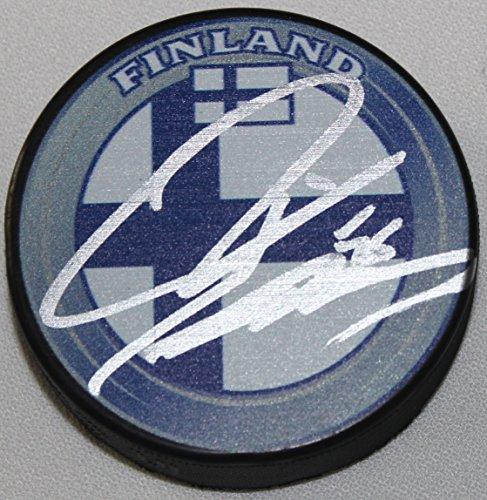 Teemu Pulkkinen Signed Finland Flag Autograph Logo Puck COA