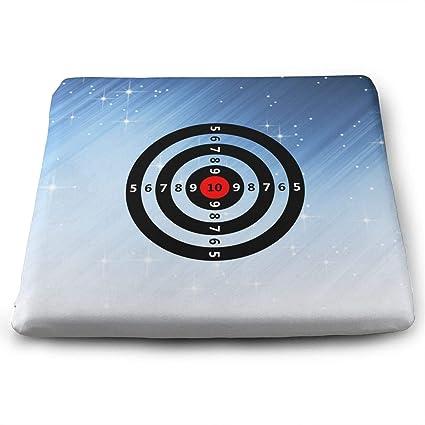 Amazon Com Gun Darts Target Memory Foam Square Chair Pad Cover