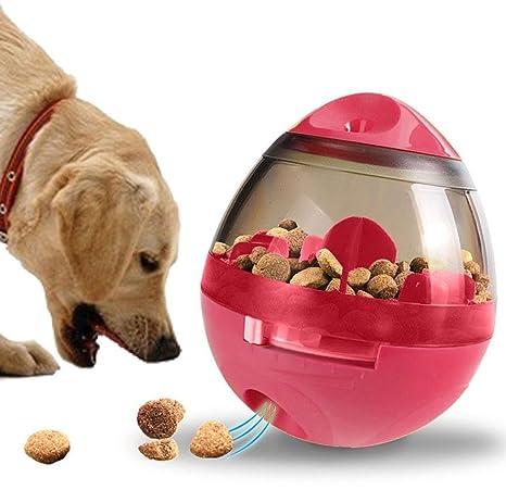 Moonlove - Vaso dispensador de alimentos para perro, juguete para mascotas con cuenco de comida