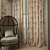 50″W x 84″L (Set of 1 panel) 20 size available Custom Modern Country Rustic Floral Branches Cotton Polyester Blend Print Grommet Top Lined Blackout Window Treatment Draperies & Curtains Panels Review