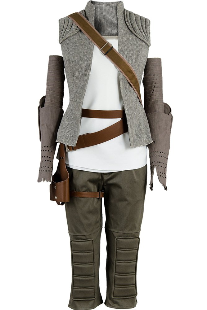 CosplaySky Star Wars 8 The Last Jedi Rey Costume Halloween Outfit Large