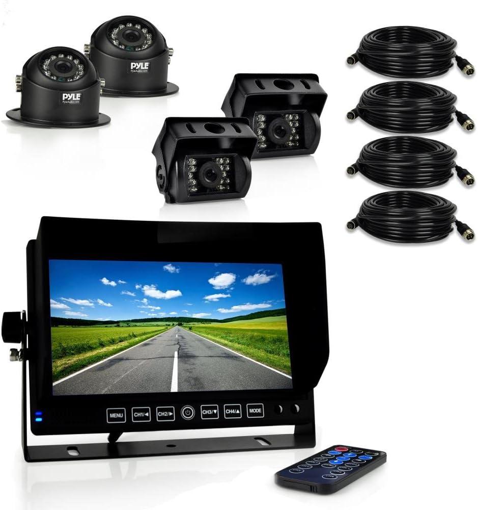"Pyle Truck Dash Cam DVR Video Camera HD Recording 7/"" Monitor Plcmtrdvr41"
