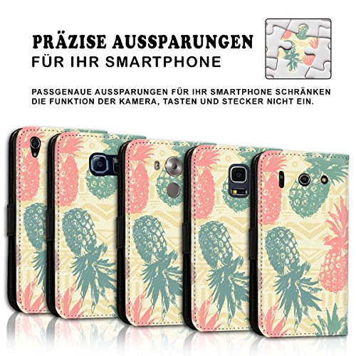 Wallet Book Style Flip Handy Tasche Case Schutz Hülle Schale Motiv Etui für Apple iPhone 4 / 4S - Design Flip MVD158