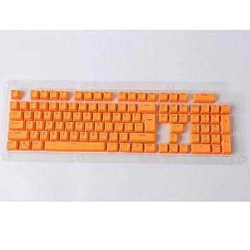 Amesii - 104 teclas retroiluminadas de doble capa fabricadas en PBT para teclado mecánico Cherry MX