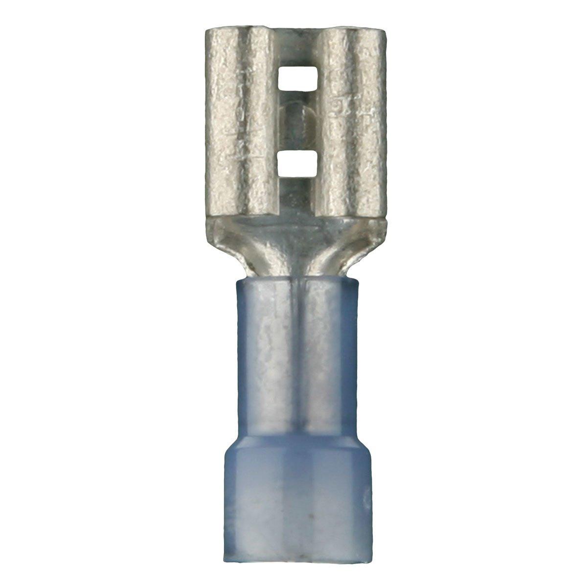 Install Bay BNFD250F Fully Insulated Nylon 16/14 Gauge .250 Female, Blue (100-Pack)