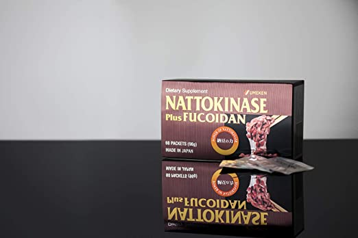 Umeken Nattokinase Plus Fucoidan - 2300FU Natto, 87 mg de Fucoidan. Paquetes, forma de bola. Suministro de 2 meses, fabricado en Japón, Single, 1